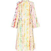 Rosie Assoulin Vestido Pelerine Com Efeito De Pintura Aquarela - 925-Multi Watercolor