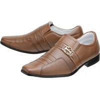 Sapato Social Mafisa Whisky - Masculino-Marrom Claro