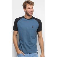 Camiseta Hd Raglan Ride Sk Masculina - Masculino-Azul