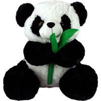 Urso Panda De Pelúcia 48Cm Sentado
