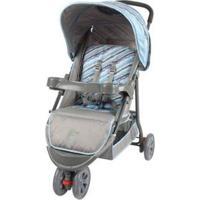 Carrinho De Bebê Passeio Baby Style Junne Ondas - Unissex-Azul