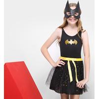 Fantasia Infantil Sulamericana Batgirl - Feminino-Preto