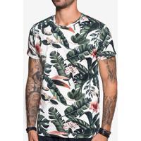 Camiseta Floral Branca 103843