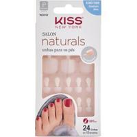 Unhas Postiças Para Pés Kiss Ny - Salon Naturals 1 Un - Feminino-Incolor
