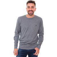 Suéter Sergio K Masculino Handmade Tricot Azul Mescla