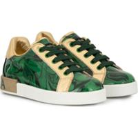 Dolce & Gabbana Kids Tênis Com Estampa - Verde