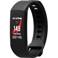Smartwatch Monitor Cardíaco Q-Touch Bluetooth Qbl36 Preto/Laranja