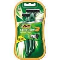 Aparelho De Barbear Bic Comfort 3 Sensitive 2 Unidades