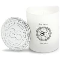 Vela Perfumada Rosa & Açafrão 240G - Branco