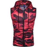 Colete Camuflado Army Panther Masculino - Vermelho E Preto