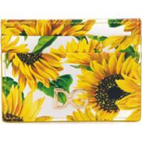 Dolce & Gabbana Porta-Cartões Com Estampa De Girassol - Amarelo