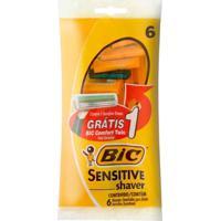 Kit Aparelho De Barbear Bic Sensitive Shaver 5 Unidades + 1 Bic Comfort Twin