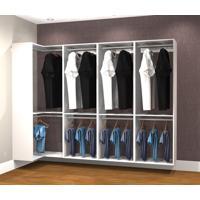 Conjunto Completo Para Closet 40 Branco - Getama Moveis