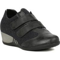 Sapato Anabela Dm Preto
