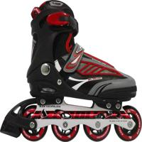 Patins Rollers B Future Inline Bel Sports Vermelho Incolor.