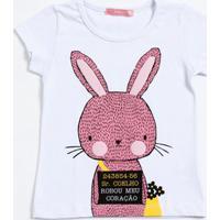 Blusa Infantil Estampa Coelho Manga Curta Marisa