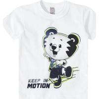 Camiseta Tigor T. Tigre Bebê Masculina - Masculino-Branco