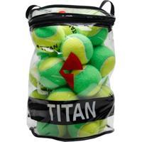 Bola De Tênis Titan Kids Stagy 1 Pack C/ 24 Bolas - Unissex
