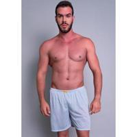 Short Pijama Curto Mvb Modas Masculino - Masculino-Cinza