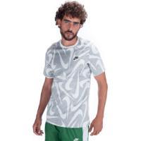 Camiseta Nike Sportswear Hand Drawn Aop - Masculina - Cinza