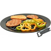 Grill Plate Em Alumínio Antiaderente Para Fogareiro E Fogão Guepardo Ua0201 - Unissex