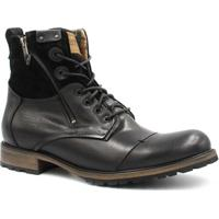 Bota Coturno Zariff Shoes Rock Masculina - Masculino-Preto