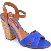 Sandália Cravo E Canela Espadrille - Feminino-Azul Royal