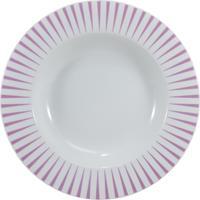 Prato Fundo 23 Cm Porcelana Schmidt - Dec. Sol Rosa