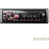 Auto Rádio Mp3 Player - Pioneer - Usb/Wma/Bluetooth - Interface Para Android - Cada (Unidade) - Mvh-298Bt