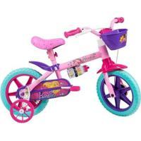 Bicicleta Infantil Caloi Barbie Aro 12 - Unissex
