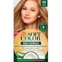 Tintura Soft Color Sem Amônia Louro Claro 80 Kit