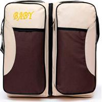Bolsa Berço Thata Esportes Portátil Baby Bed & Bag Mala Com Trocador Infantil Bebê Bege