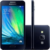 "Smartphone Samsung Galaxy A3 - 3G - Preto - Dual Chip - Sm-A300H - 16Gb - Tela 4.5"""