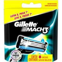 Carga Gillette Mach 3 Regular - 8 Unidades - Unissex-Incolor