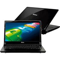 Notebook Philco 14D-R744Wb - Dual Core - 4Gb - 500Gb - Preto - Windows 7 Home Basic