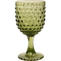 Taça De Vinho Hobnail Green