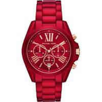 Relógio Michael Kors Bradshaw Mk6724/1Vn Feminino - Feminino-Vermelho