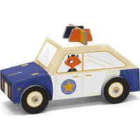 Carro De Montar Policia Krooom Azul - Kanui