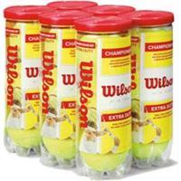 Bola De Tênis Wilson Championship - Pack Com 6 Tubos - Unissex