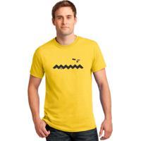 Camiseta Trilha Camisetas Charlie Brown Amarela