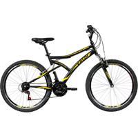 Bicicleta Aro 26 Mountain Bike Preta - 21 Marchas - Caloi