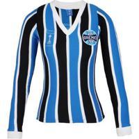 Camisa Grêmio Oldoni Retrô Libertadores Manga Longa Feminina - Feminino