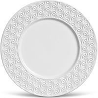 Prato Raso Manish Cerâmica 6 Peças Branco Porto Brasil