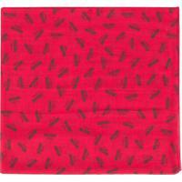 Moschino Echarpe Com Estampa De Logo - Vermelho