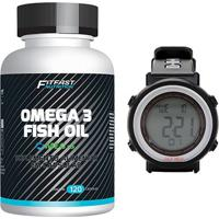 Kit 1 Ômega 3 Fish Oil 120 Caps - Fitfast + 1 Monitor Cardíaco Gonew - Unissex