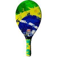 Raquete De Frescobol Crypton Fibra De Vidro Brasil - Masculino