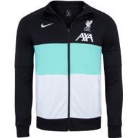 Jaqueta Liverpool Club Nike - Masculina - Preto/Aqua