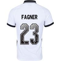 Camisa Do Corinthians I 2020 Nike - Masculina Nº 23 Fagner - Masculina - Branco/Preto