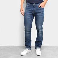 Calça Jeans Lacoste Slim Masculina - Masculino-Azul Claro