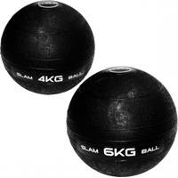 Bola De Peso Slam Ball Cross Fit 4Kg + Bola Slam Ball 6 Kg Liveup - Unissex